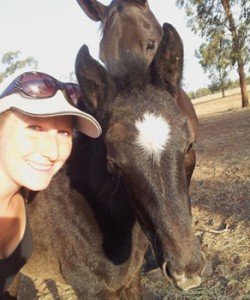 Work and Travel Teilnehmerin Stefanie mit Pferden