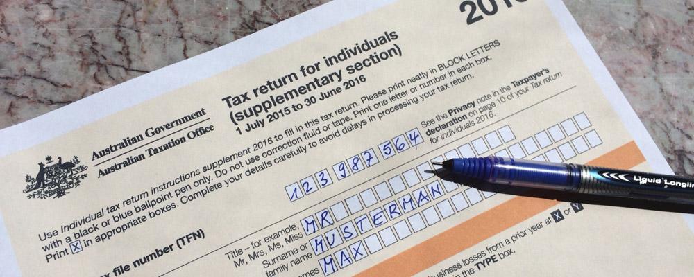 tax return application form ATO